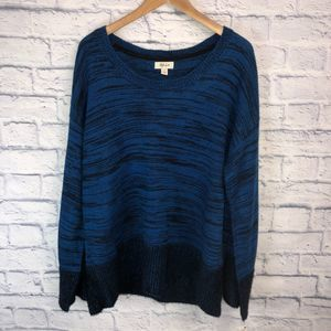 NWT! Blue/Black Knit Sweater